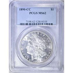 1890-CC MORGAN DOLLAR PCGS MS-62