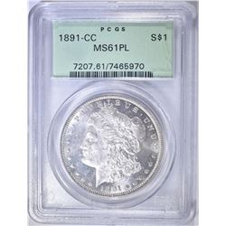 1891-CC MORGAN DOLLAR PCGS MS-61 PL