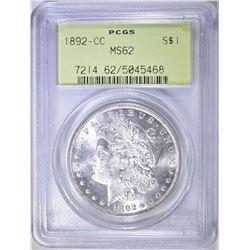 1892-CC MORGAN DOLLAR PCGS MS-62