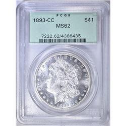 1893-CC MORGAN DOLLAR PCGS MS-62