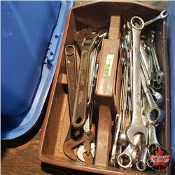 Plastic Tray Lot: Variety of Metric Wrenches & Crescent Wrenches