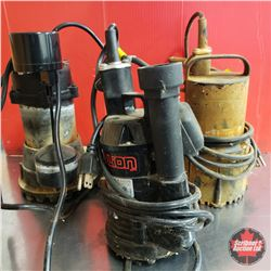 Tote Lot : 3 Submersible Sump Pumps