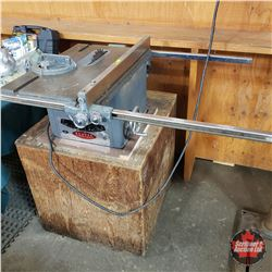 Beaver Table Saw on Wood Stand