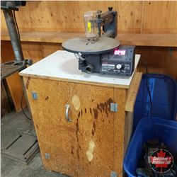 "Craftsman 16"" Variable Speed Scroll Saw on Wood Stand"