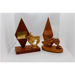 Plowing match trophies