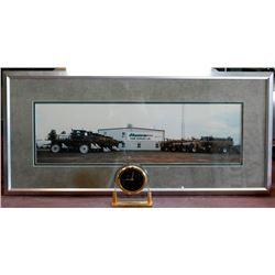 Munro farm supplies picture and clock