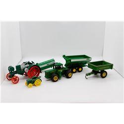 John Deere miniature toys *4WD tractor front end broken*