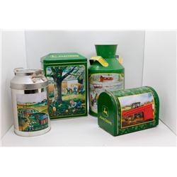 Various John Deere tins