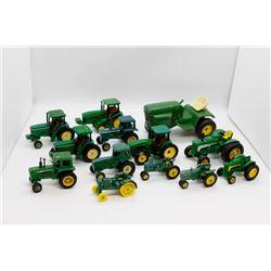 Various John Deere tractors miniature