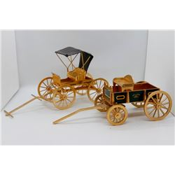 Gold John Deere wagon and buggy