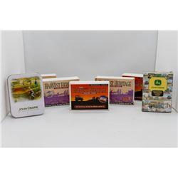 John Deere cards and tin