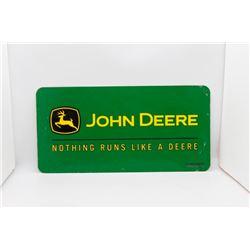 John Deere metal plate