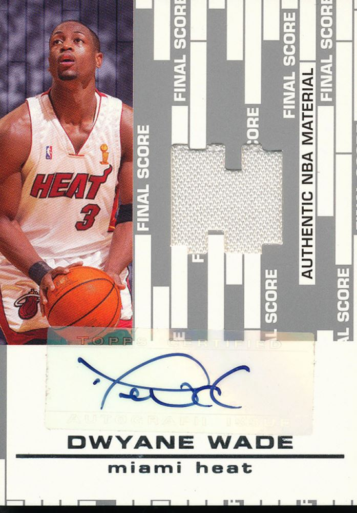 2006-07 Topps Big Game Final Score Relics Autographs #DW Dwyane Wade
