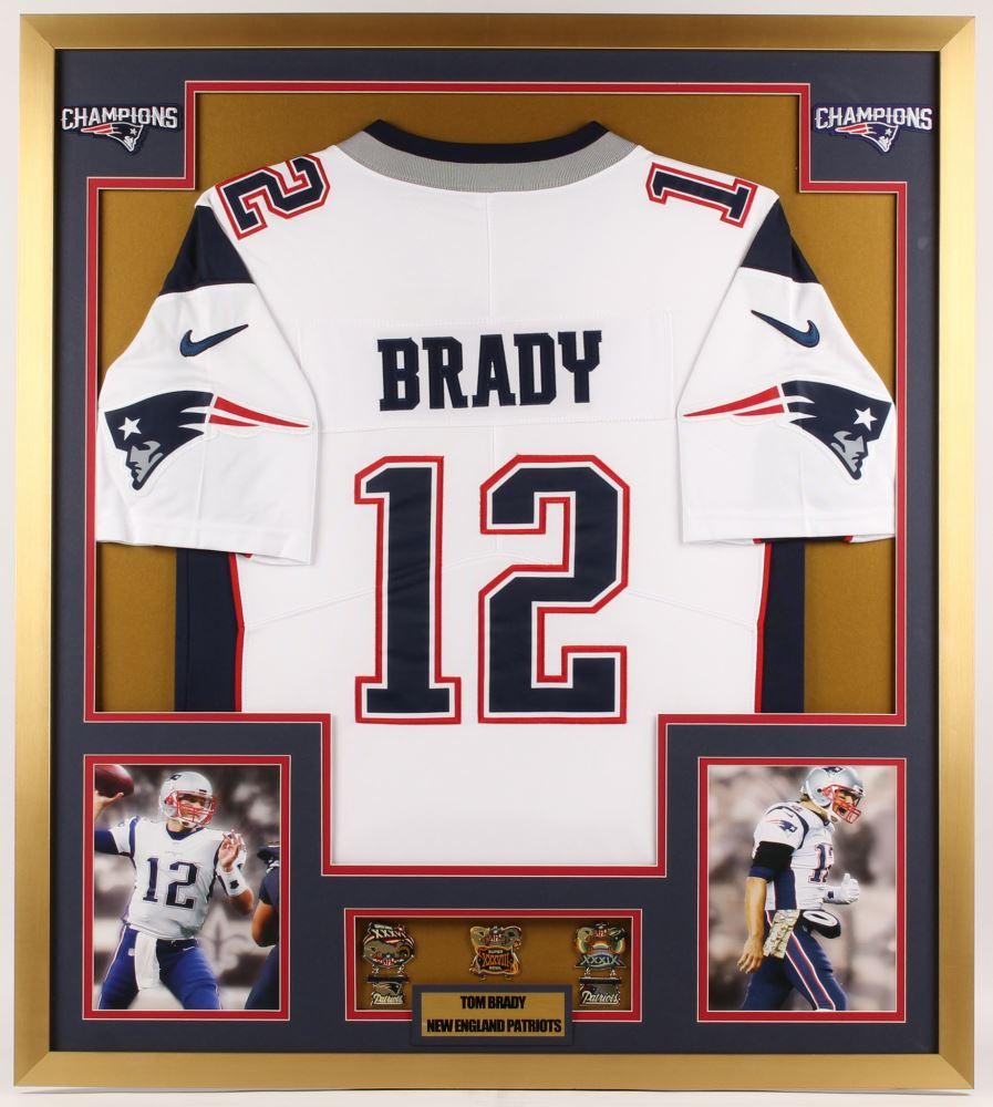 Tom Brady New England Patriots 32x36 Custom Framed Jersey ...