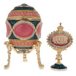 1914 Mosaic Faberge-Inspired Egg