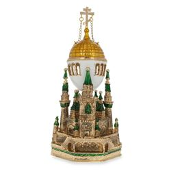Faberge Inspired 1906 Moscow Kremlin Royal Russian Egg
