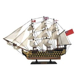 Wooden Hms Victory Tall Model Ship 24''