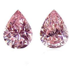 Pink 4 Carat Bianco Diamond Pear Cut 10 X 12 Mm