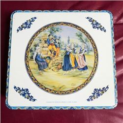Vintage 1970's Masilly French Country Biscuit Tin