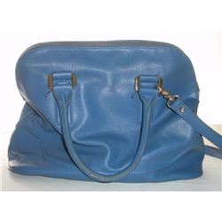 Ivanka Trump Blue And Gold Designer Bag Zipper Closure