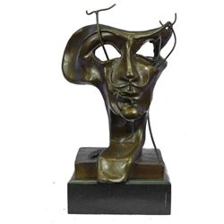SOFT SELF PORTRAIT WITH GRILLED BACON (1941) by Salvador Dali Surreal Bronze Sculpture 15  x 9