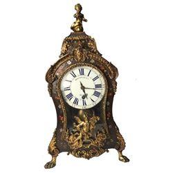 19thc French Louis XV-Style Tortoiseshell Clock