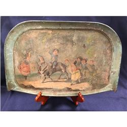 19thc Victorian Litho, Child's Highchair Tray