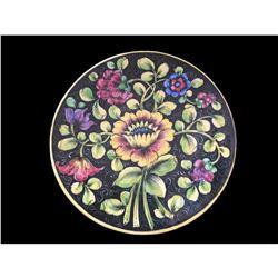 19thc Italian Faience Ceramic Floral Platter