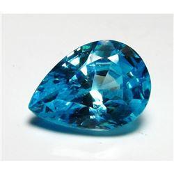 3CT. Pear Cut Blue BIANCO Diamond