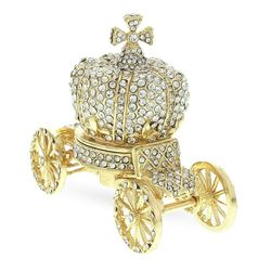 Crystal Coach Crown Russian Trinket Jewelry Box