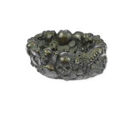 Gothic Bronze Figural Smoking Trinket Tray