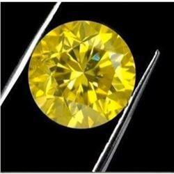 8ct Round Brilliant Cut BIANCO Canary Diamond