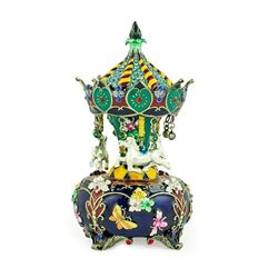 Jeweled Royal Inspired Russian Carousel Figurine 5.5 Inches