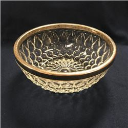 Vintage Mid Century Pressed Glass Bowl