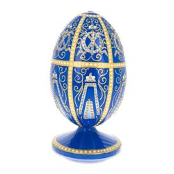 1896 Twelve Monograms Royal Wooden Egg