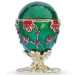 Faberge Inspired 1899 Pansy Royal Russian Egg