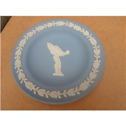 Wedgwood Blue Jasperware Rolls Royce Spirit of Ecstacy Pin Dish