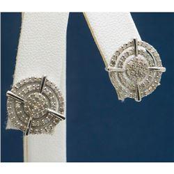1ctw Diamond & Sterling Silver Stud Earrings
