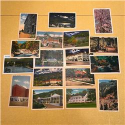 Vintage Early 20thc Travel Postcards, Hotels Inns State Parks, North Carolina Tennessee Virginia