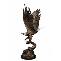 Eagle w/Gold Beak & Talons By J. Moigniez