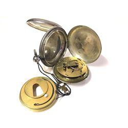 1853 Jos. Pemberton Sold Sterling Pocket Watch by R.