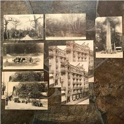 Group of Grand Tour Postcards, Paris France, Fontainebleau
