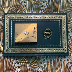Vintage Mid Century Masonic Shriner Rhinestone Pin & Presentation Box