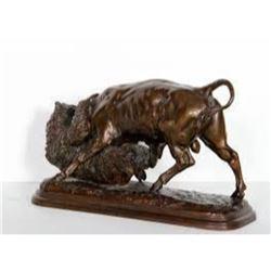 Bear and Bull By I. Bonheur