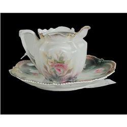 R.S. Prussia Teapot & Plate