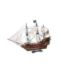 "Black Bart's Royal Fortune Model Pirate Ship 36"" - White Sails"