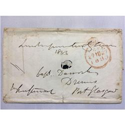 1833 Port Glasgow Handwritten Iron Gall Ink Letter