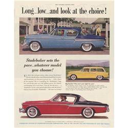 Three 1940's/ 1950's Original Studebaker Car Ads