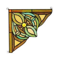 "Victorian Tiffany-glass Window Panel 8"" Wide"