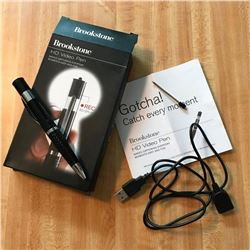 Brookstone HD 4GB Video Spy Pen